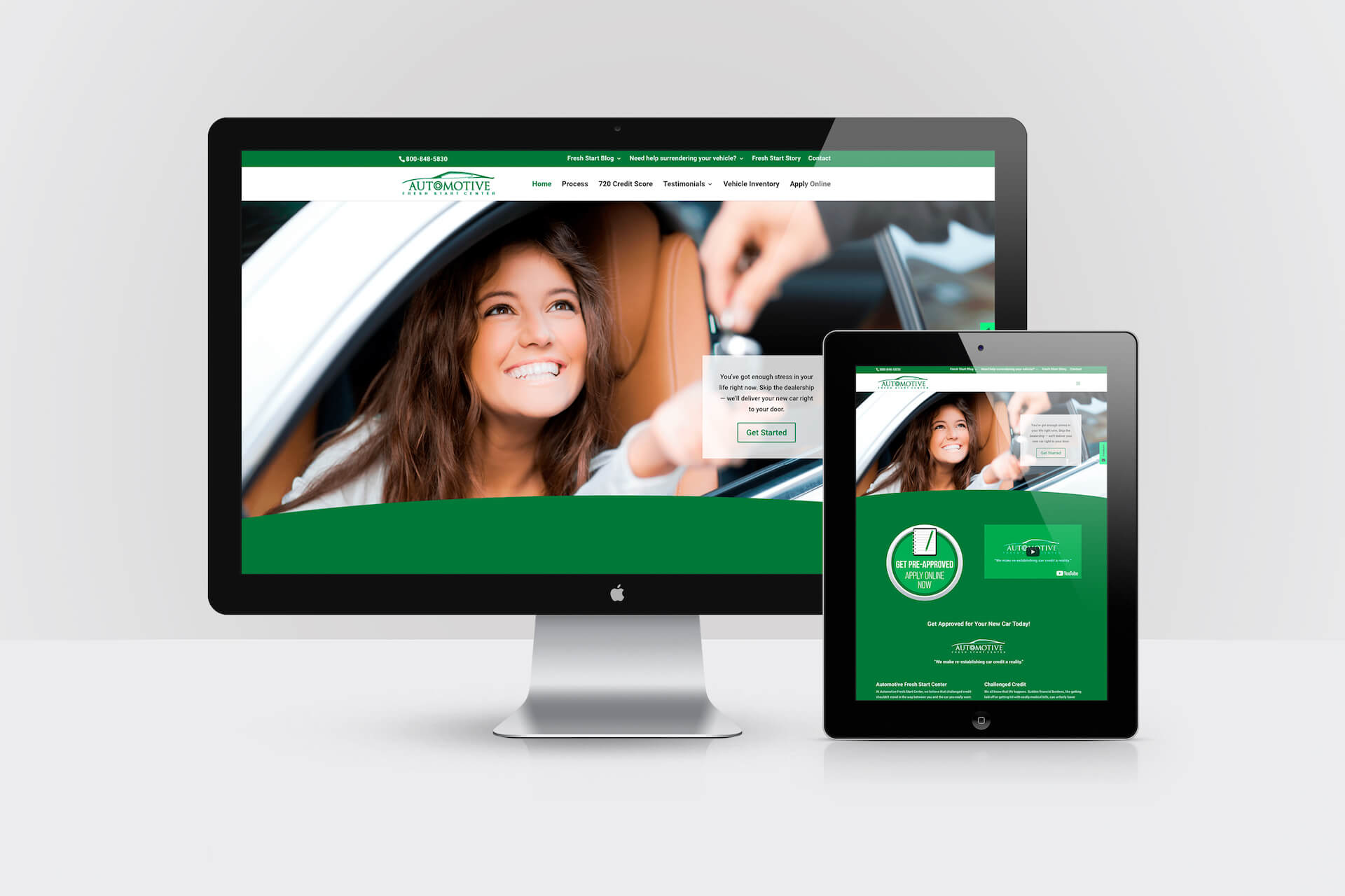 Automotive Fresh Start Center — Responsive Website