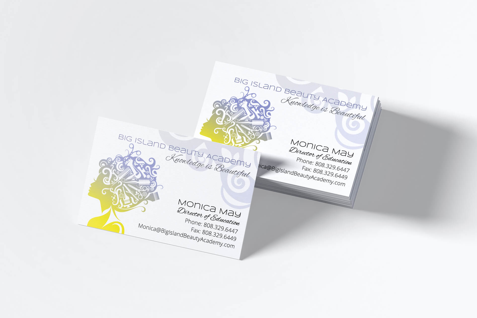 Big Island Beauty Academy — Business Cards