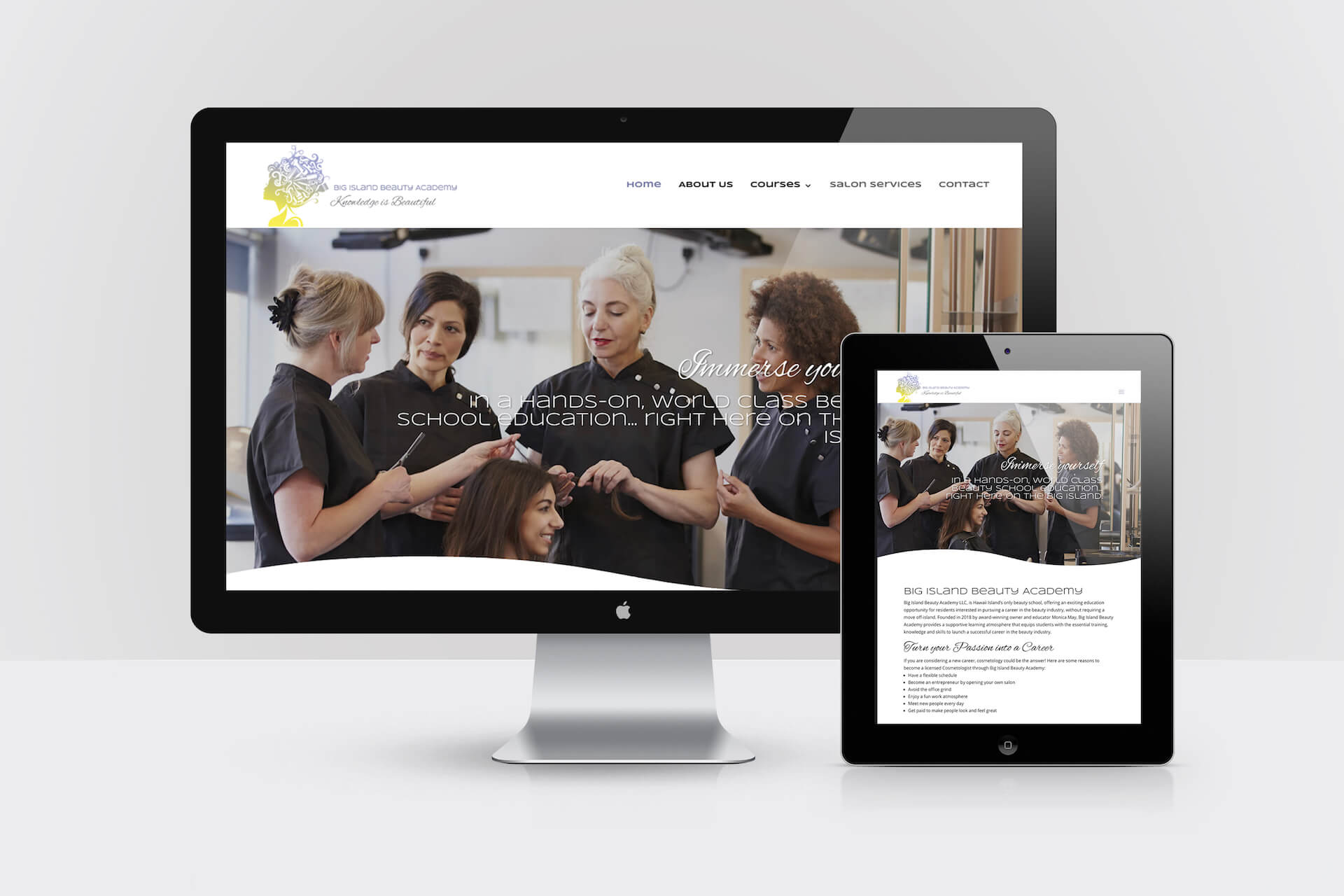Big Island Beauty Academy — Responsive Website Design