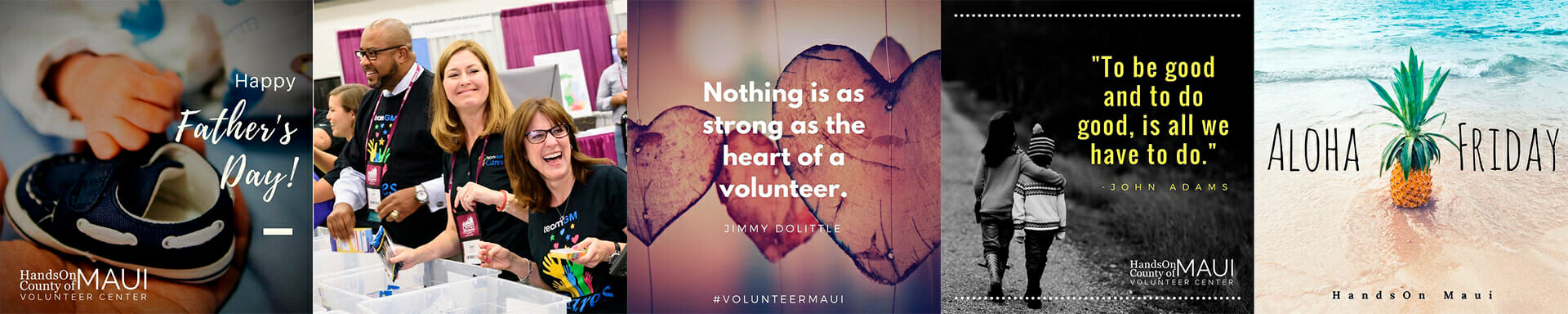 County of Maui Volunteer Center — Instagram Marketing