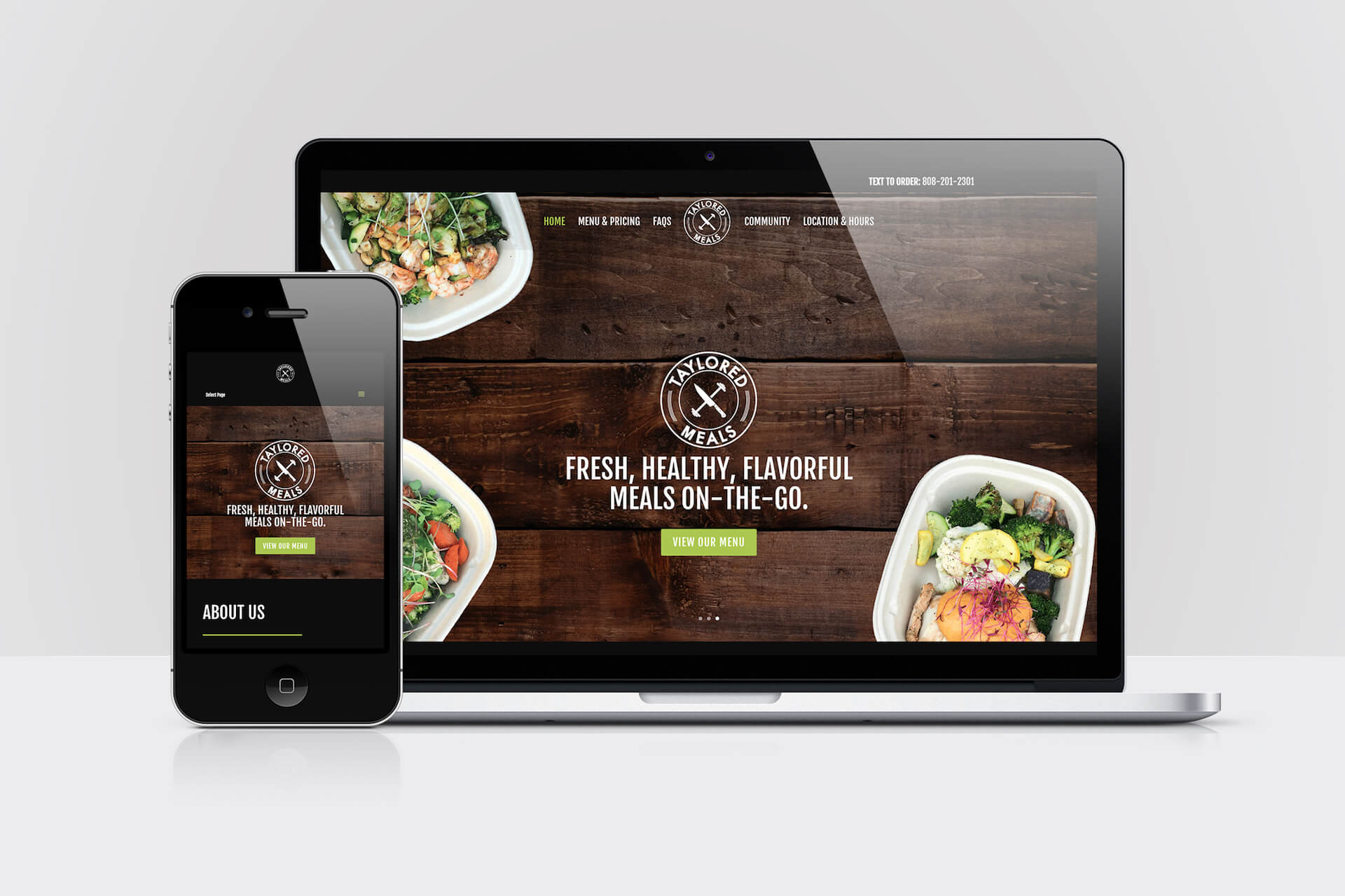 Taylored Meals — Responsive Website