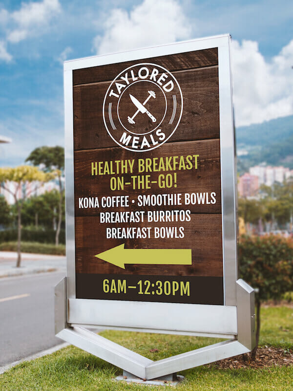 Taylored Meals — Outdoor Sign