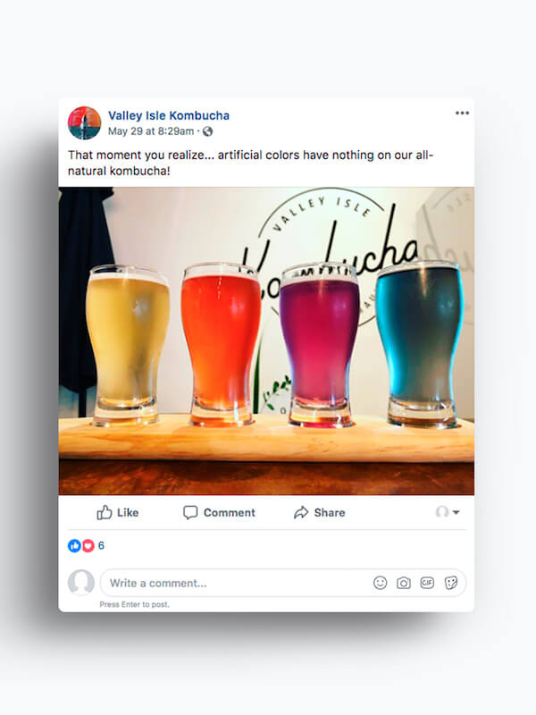 Valley Isle Kombucha — Facebook Marketing