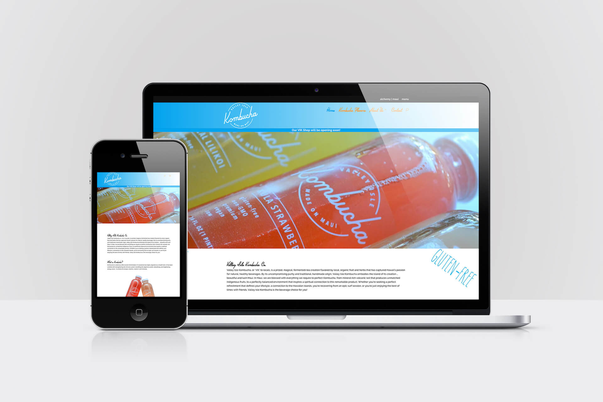 Valley Isle Kombucha — Responsive Website Design (2016)