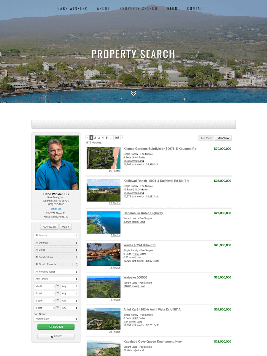 Gabe Winkler Realtor — Integration of Local Real Estate Listings