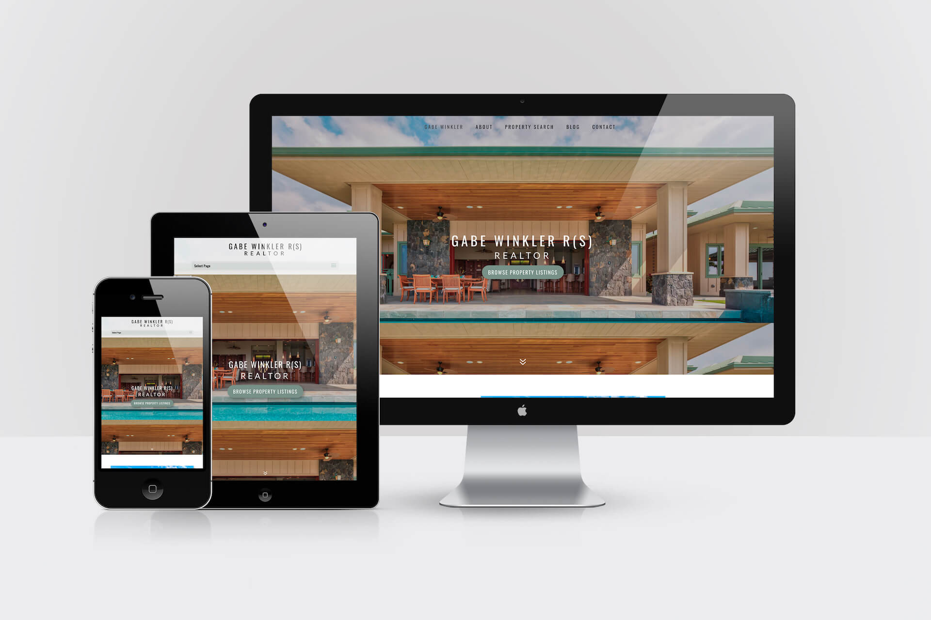 Gabe Winkler Realtor — Responsive Website Design