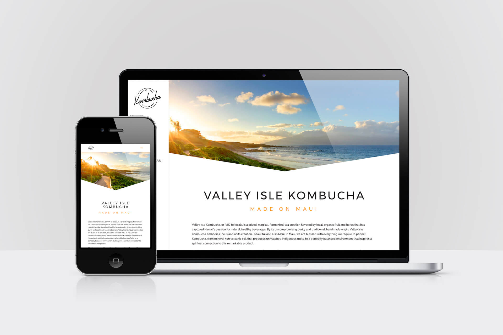 Valley Isle Kombucha — Responsive Website Design (2019)