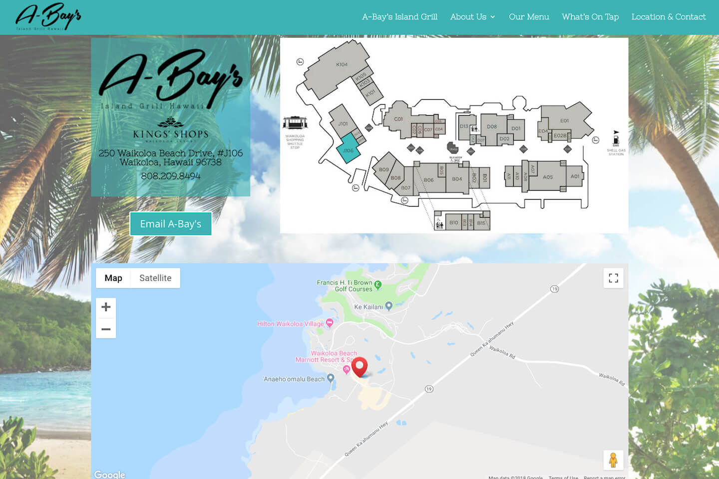 A-Bay's Island Grill — Website Design