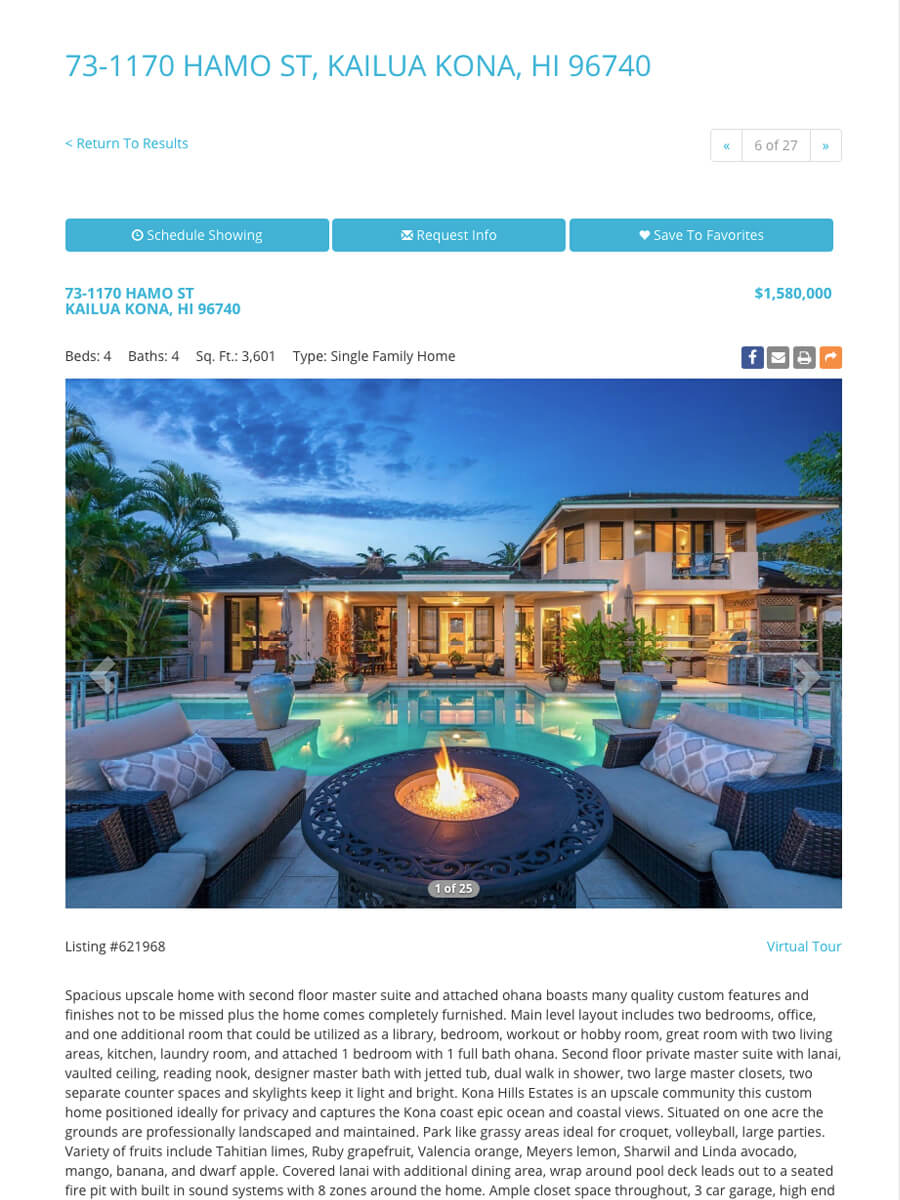 Beautiful Big Island Properties — MLS Real Estate Listing Page