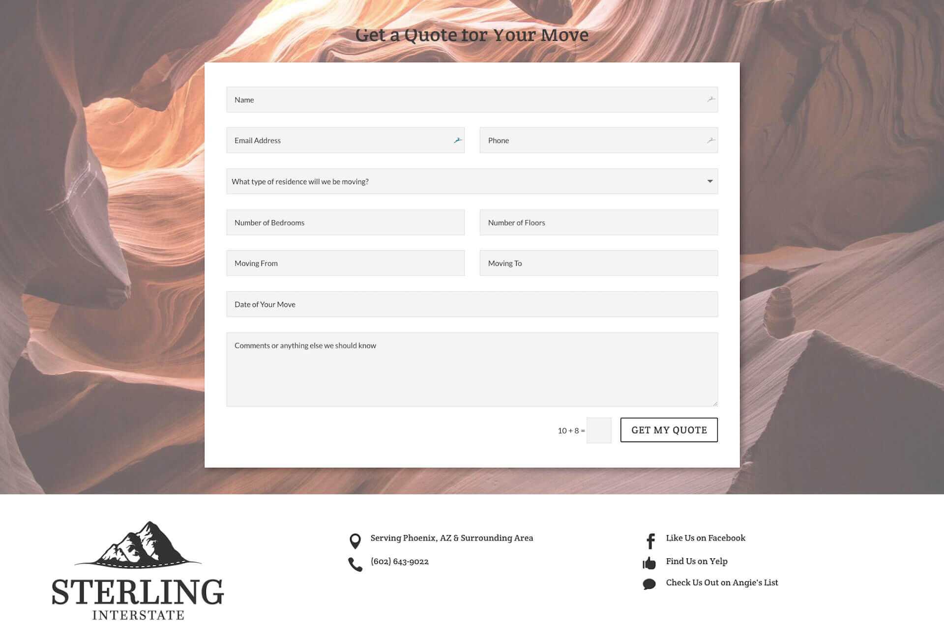 Sterling Interstate — Custom 'Request a Quote' Form