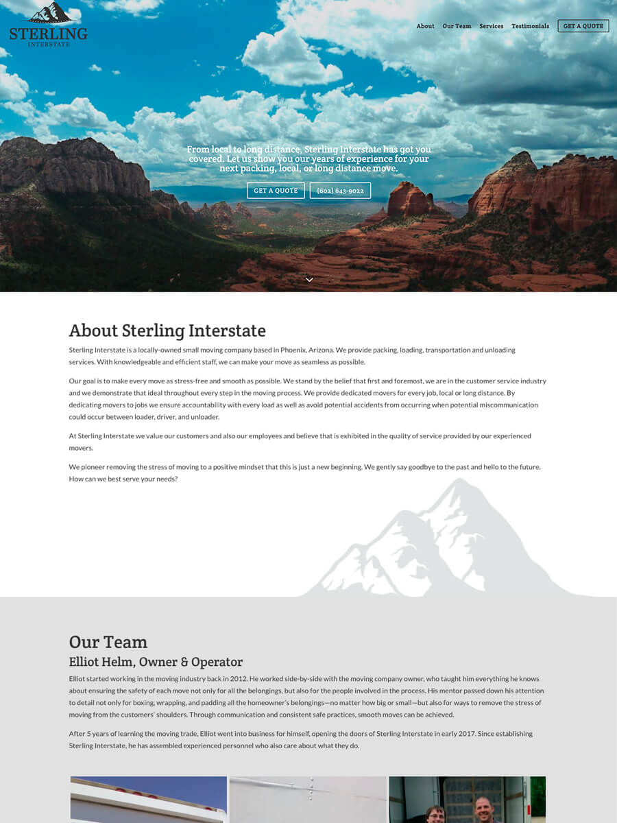 Sterling Interstate — Website Design