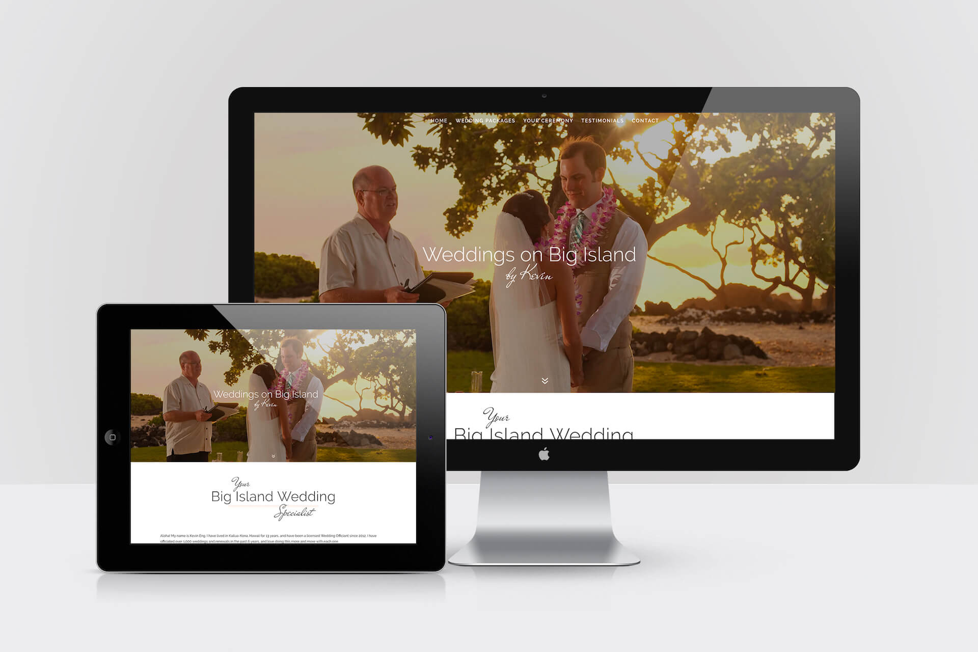 Weddings on Big Island by Kevin — Responsive Website Design