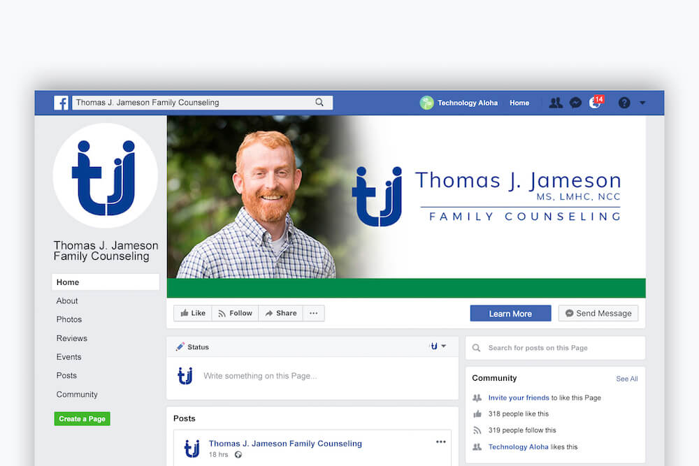 Thomas J Jameson Family Counseling — Facebook Page Profile Graphics