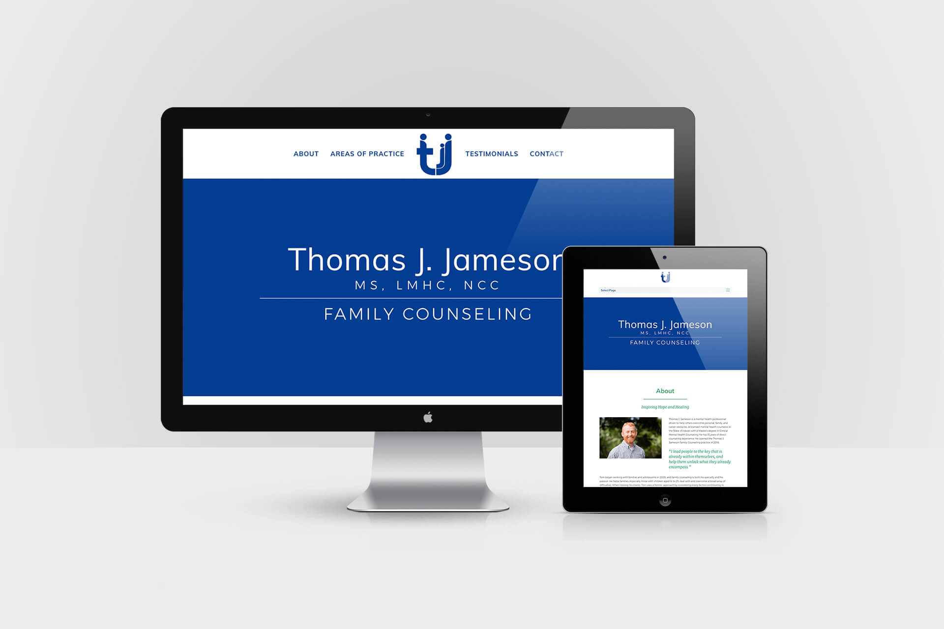 Thomas J Jameson Family Counseling — Responsive Website Design