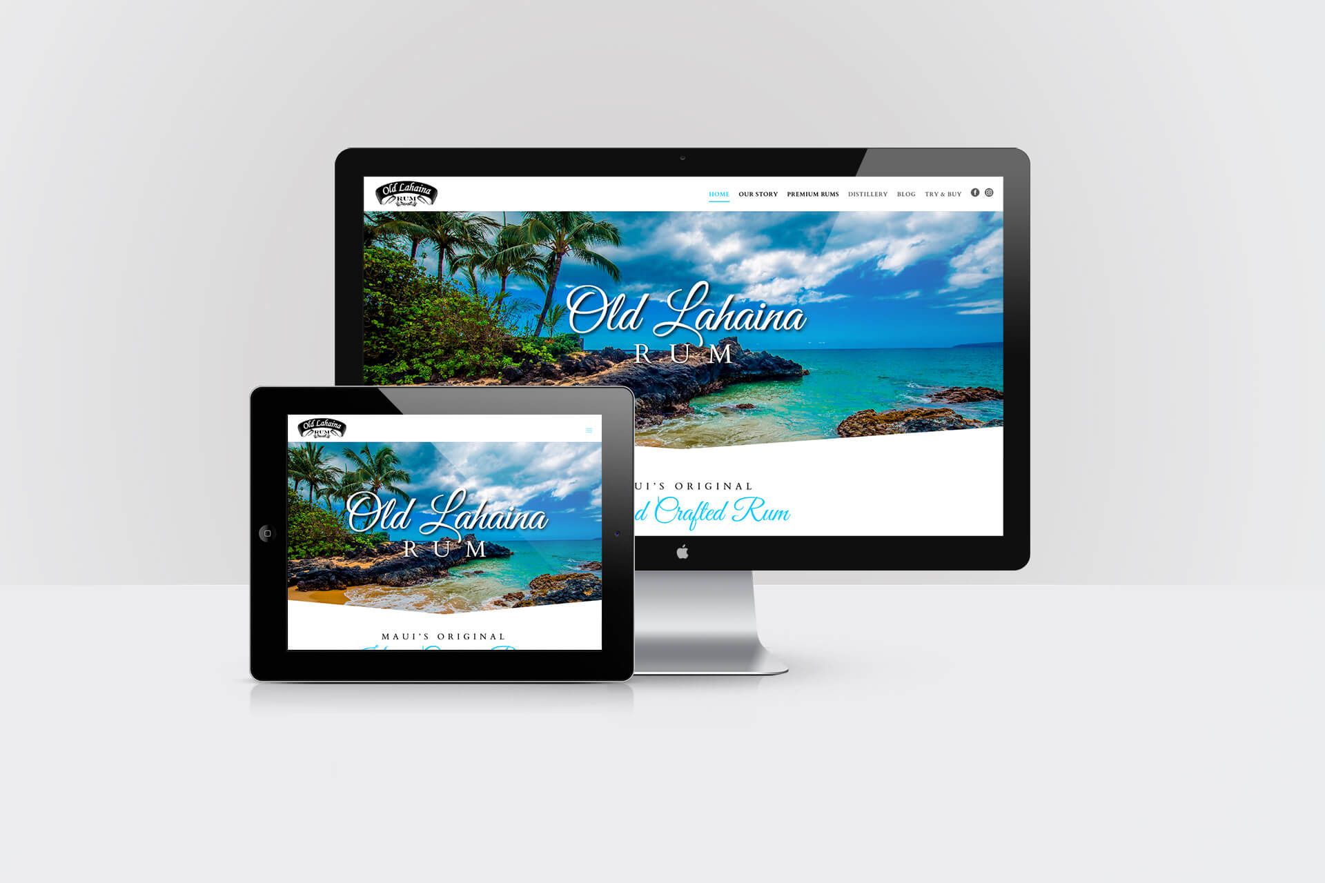 Old Lahaina Rum — Responsive Website Design