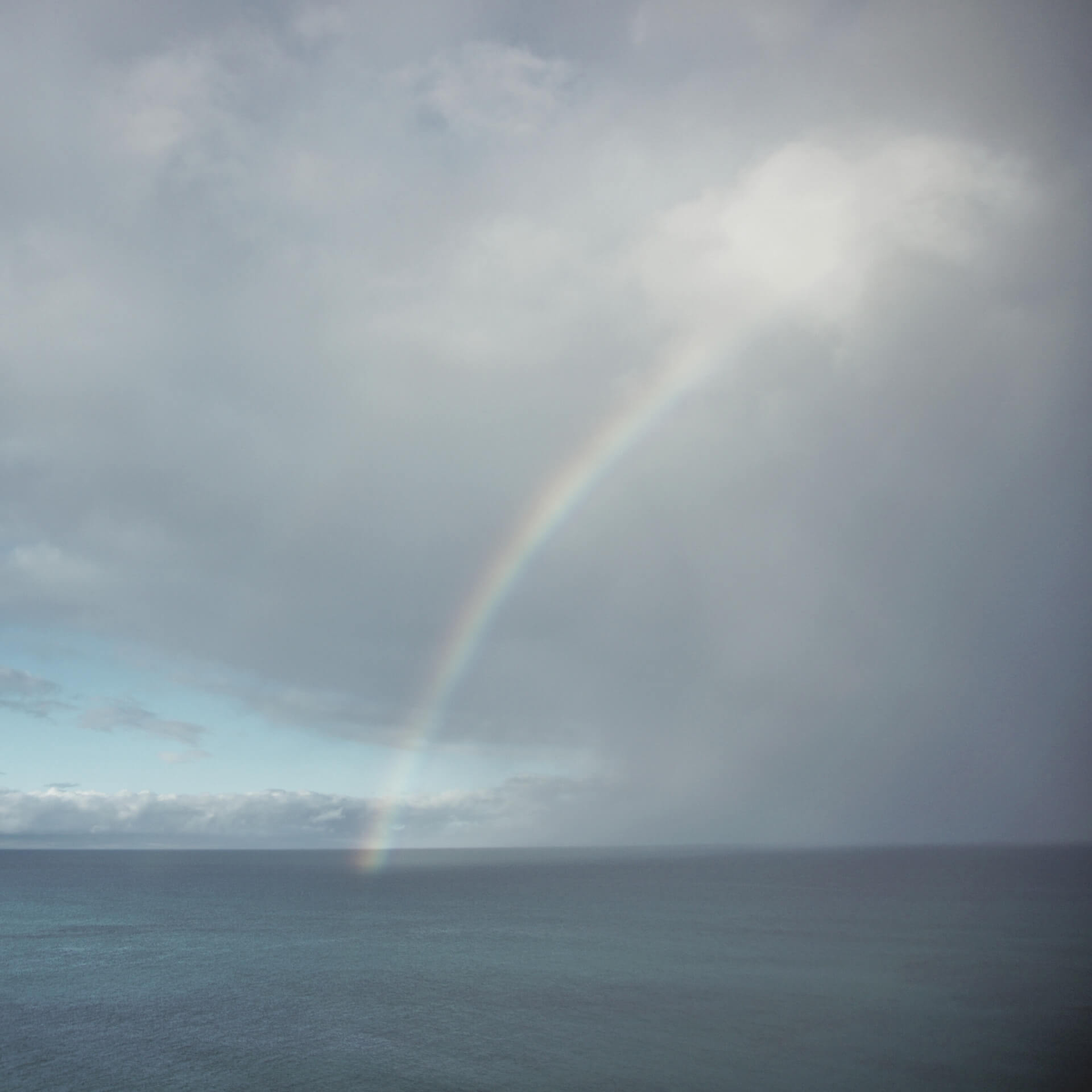 Branding for small business: Rainbow over the ocean