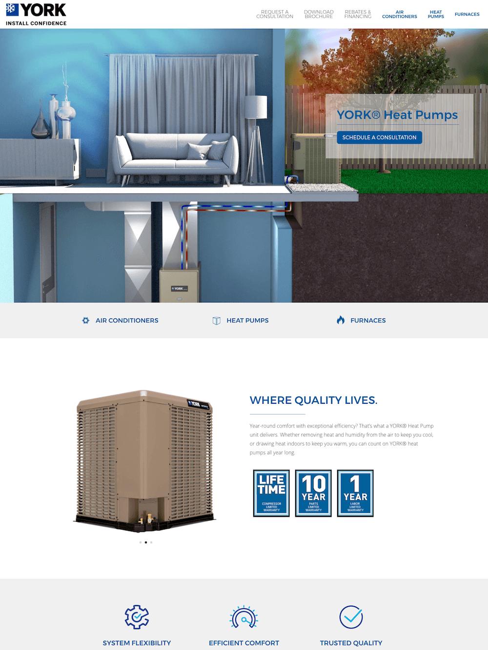 York Colorado — Website Product Page