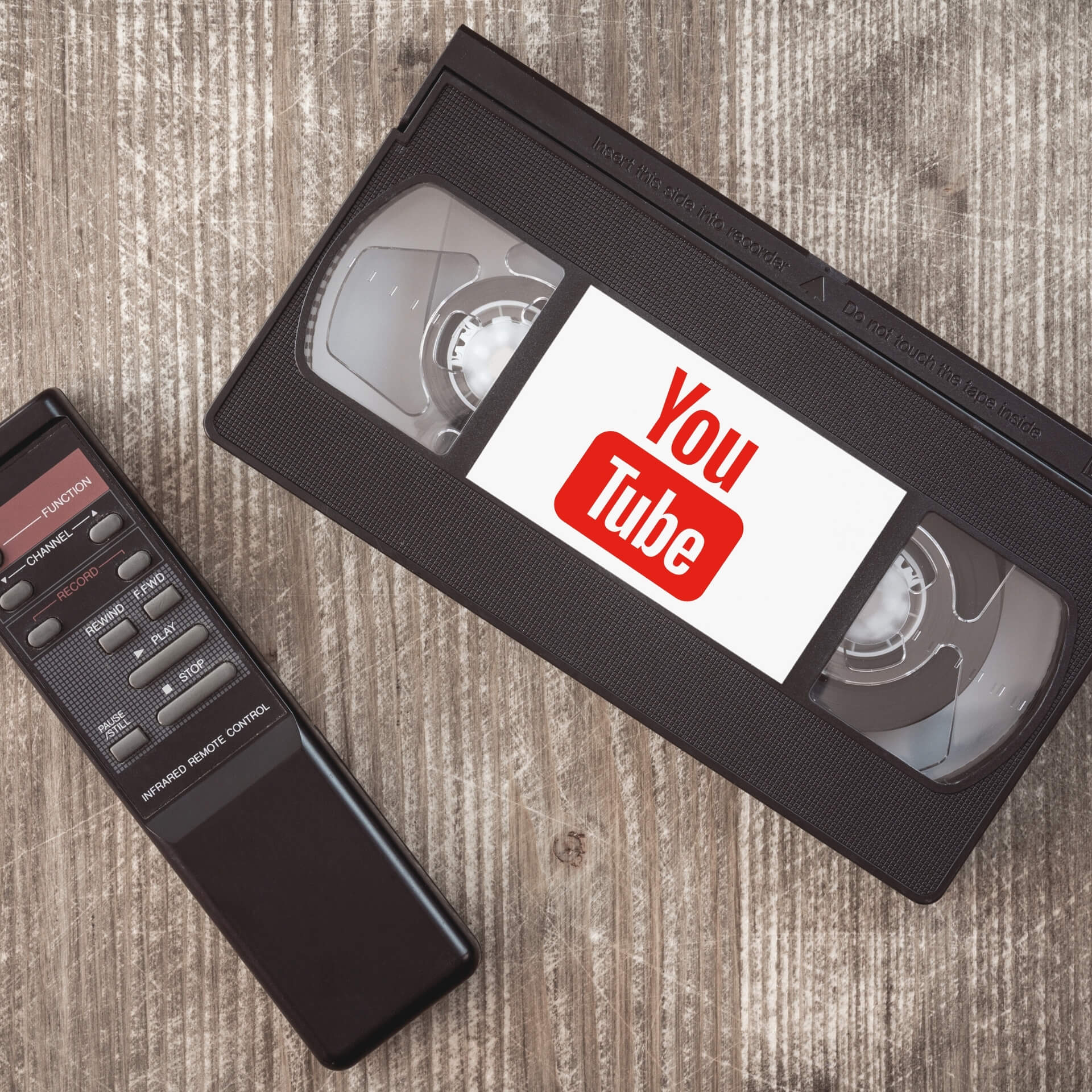 Video Marketing for Social Impact: Video tape with the YouTube logo on it.