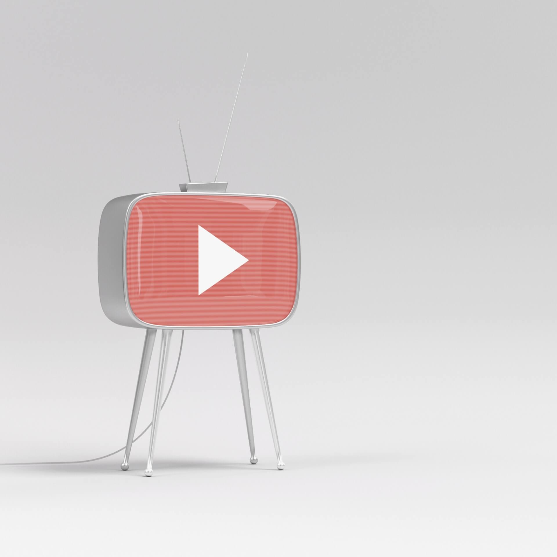 YouTube Nonprofits: YouTube logo on an old tv.