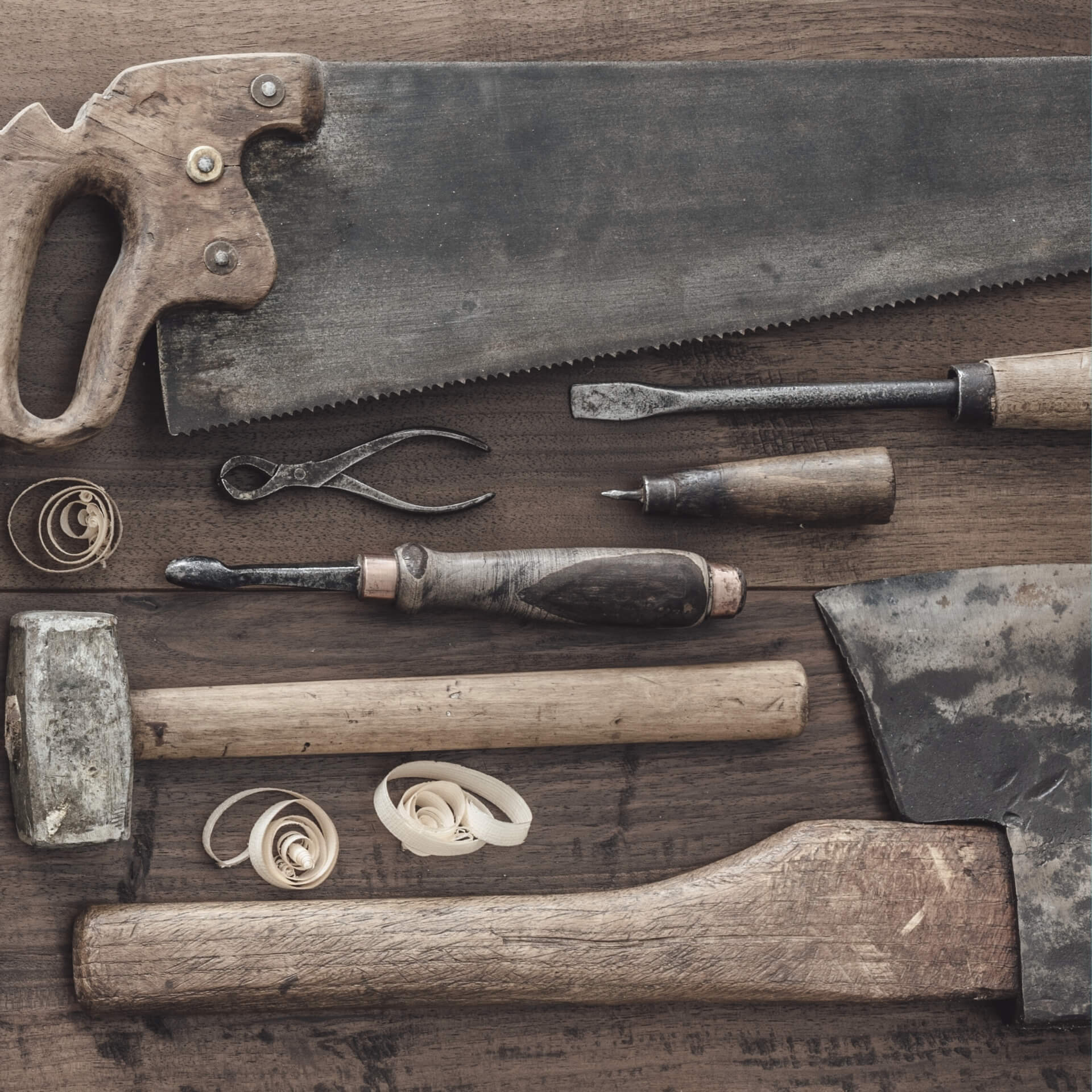 Tools on a workbench representing: 3 Free Tools for Your Nonprofit