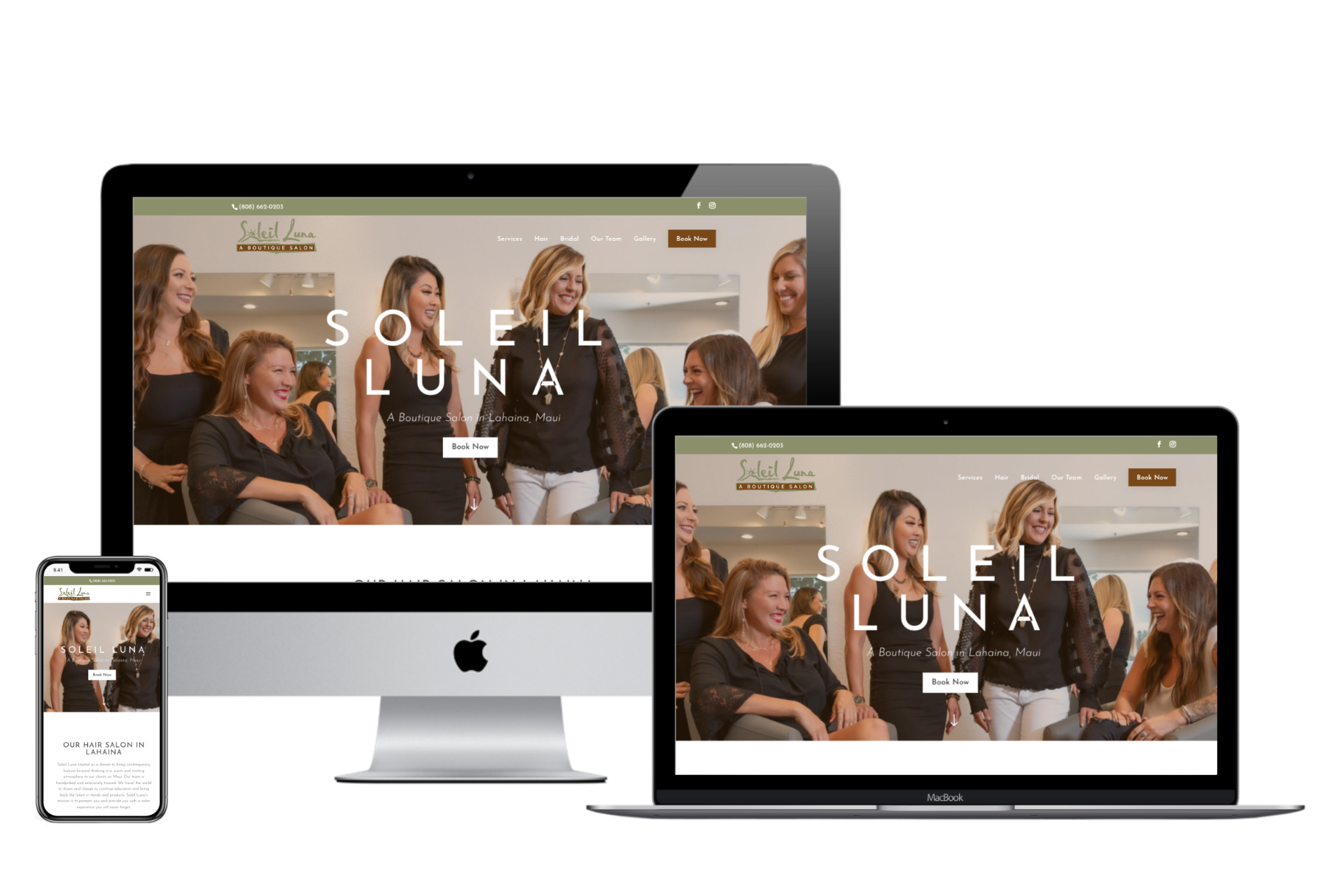 Preview of Soleil Luna Salon Website
