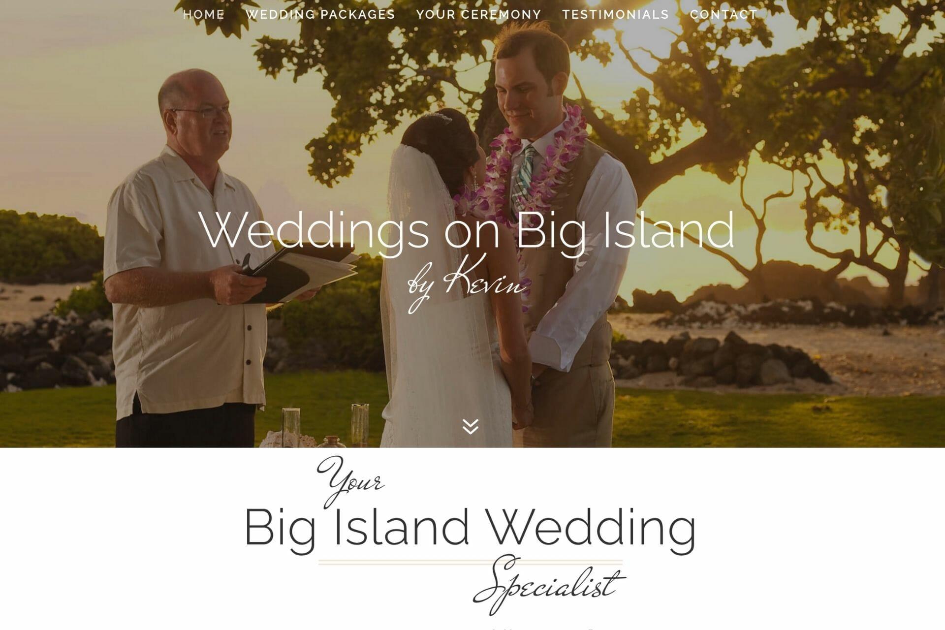 Home Page for Weddings on Big Island